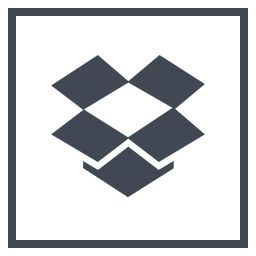 dropbox, logo, media, social icon