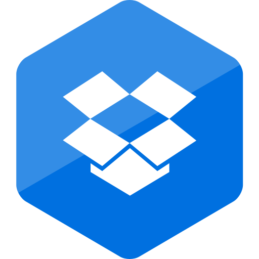 colored, dropbox, hexagon, high quality, media, social, social media icon