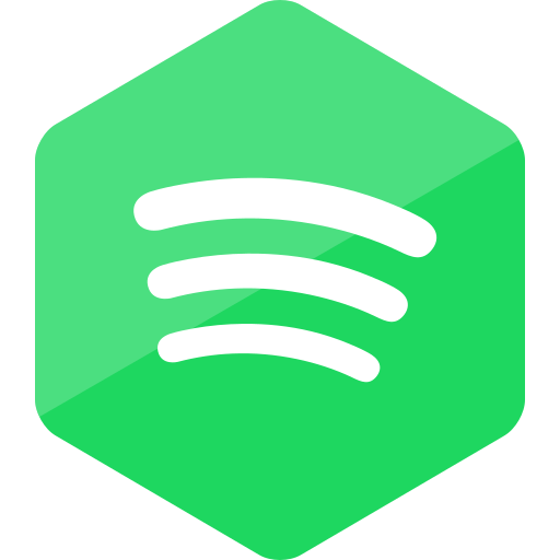 colored, hexagon, high quality, media, social, social media, spotify icon