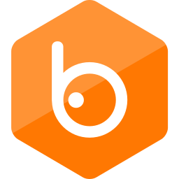 badoo, colored, hexagon, high quality, media, social, social media icon