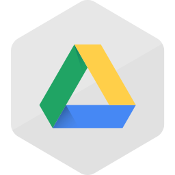 colored, google drive, hexagon, high quality, media, social, social media icon