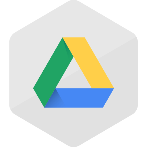 colored, google drive, hexagon, high quality, media, social, social media icon
