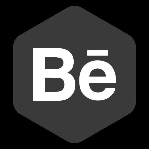 behance, hexagon, logo, media, polygon, social icon