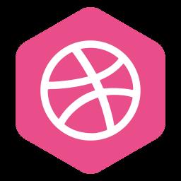 dribble, hexagon, logo, media, polygon, social icon