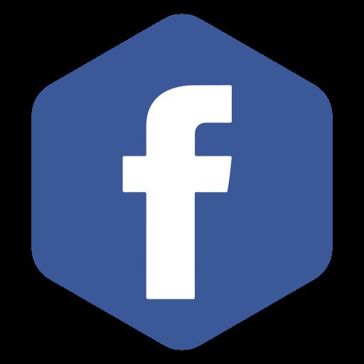 facebook, hexagon, logo, media, network, polygon, social icon