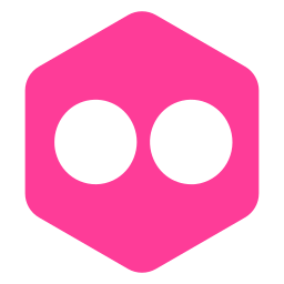 flickr, hexagon, logo, media, polygon, social icon