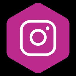 hexagon, instagram, logo, media, photos, polygon, social icon