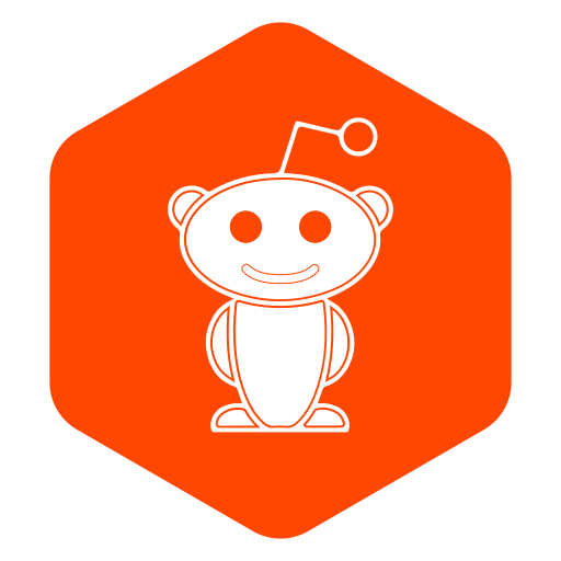 hexagon, media, polygon, reddit, social icon