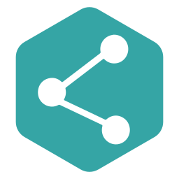 hexagon, media, network, polygon, share, social icon