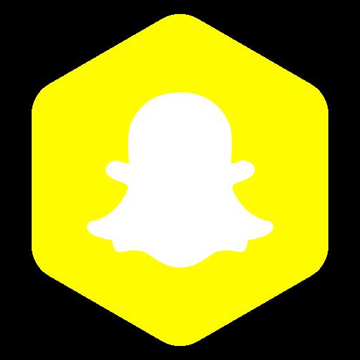 hexagon, media, polygon, snapchat, social icon