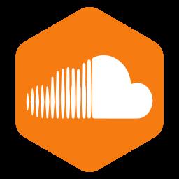 hexagon, media, polygon, social, sound, soundcloud, speaker icon