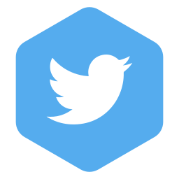 hexagon, media, polygon, social, twitter icon