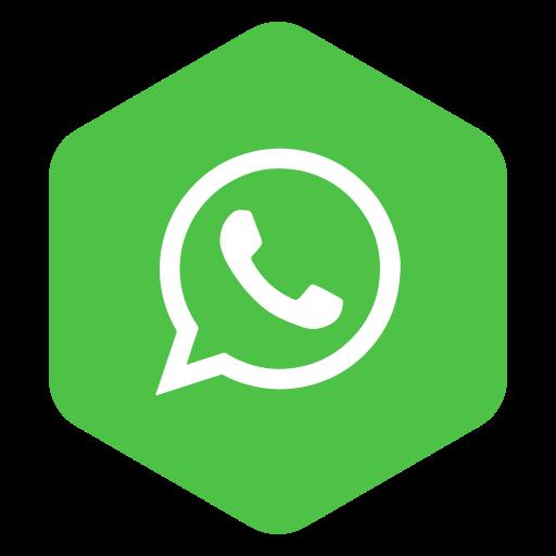 media, plygon hexagon, social, whatsapp icon