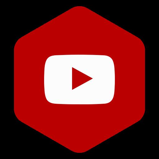 hexagon, media, polygon, social, youtube icon