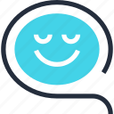 bubble, chat, communication, conversation, message, smile, speech icon