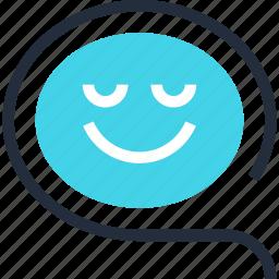 bubble, chat, communication, conversation, message, smile, speech icon