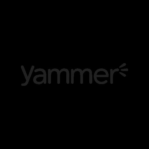 call, contact, logo, media, message, social, yammer icon