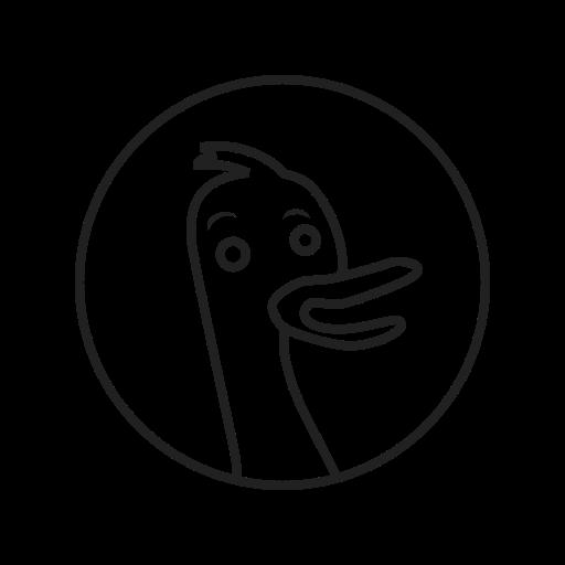 business, duckduckgo, engine, internet, optimization, search, web icon