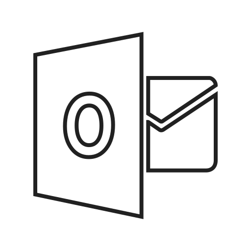 computer, email, google, internet, message, mobile, outlook icon