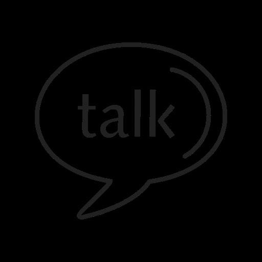 call, contact, google talk, logo, media, message, social icon