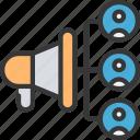 social, ad, reach, adreach, potential, megaphone, network