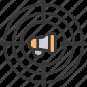 targeted, marketing, target, megaphone
