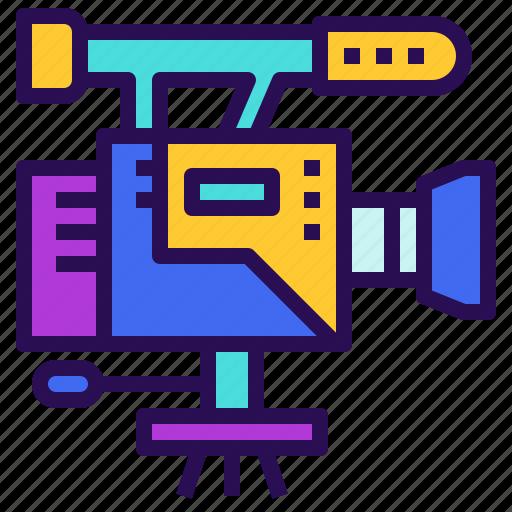 cinematography, film, movie, record, shooting icon