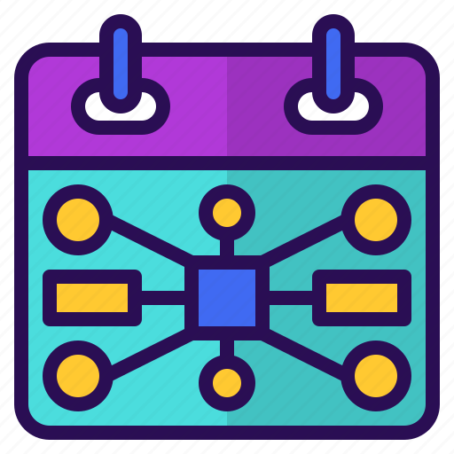 calendar, chart, event, mapping, mind, planning icon