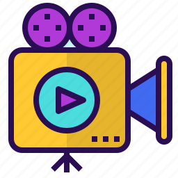 film, introduction, movie, presentation, video icon
