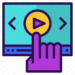 clip, course, marketing, online, play, video icon
