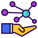 care, connection, network, personal, sharing icon