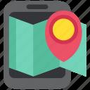 location, map, media, network, pin, social, tag icon