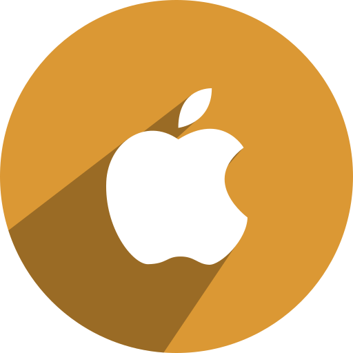 apple, free, media, network, social icon