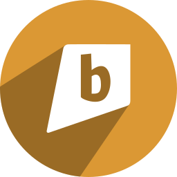 b, bright, brightkite, kite icon