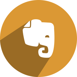 evernote, free, media, network, social icon