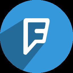 foursquare, media, network, social icon