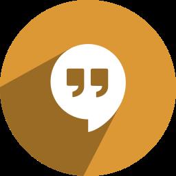 free, hangouts, media, network, social icon