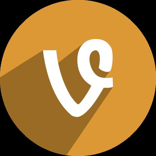 v, vine icon