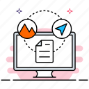 blog post sharing, content sharing, file sharing, web content icon
