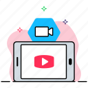 live streaming, media player, multimedia, video player, video streaming icon