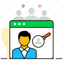 find person, find someone, search employee, search person, user search icon