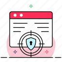 data encryption, data protection, data safety, data security, website protection icon