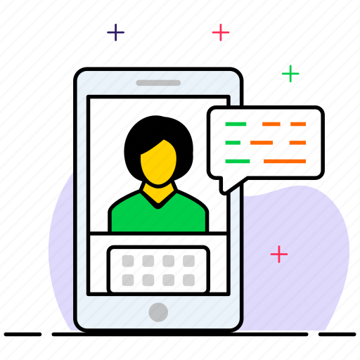 mobile video chat, video call, video chat, video communication, video conversation icon