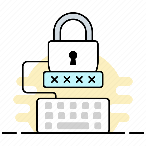 digital security, enter pin, passkey, pincode, security code icon