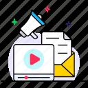 digital marketing, internet marketing, online video, video blog, video marketing icon
