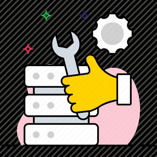 data adjustment, data governance, data management, data processing, data setting icon