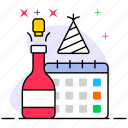 celebration, event, festivity, party, party reminder, reminding event icon
