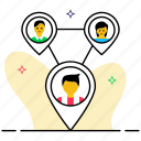 interrelationship, personal connection, social connection, social network, working relationship icon