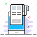 documentation, edocs, mobile document, office documents, online document icon