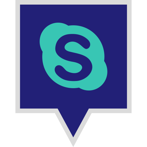 logo, media, skype, social icon